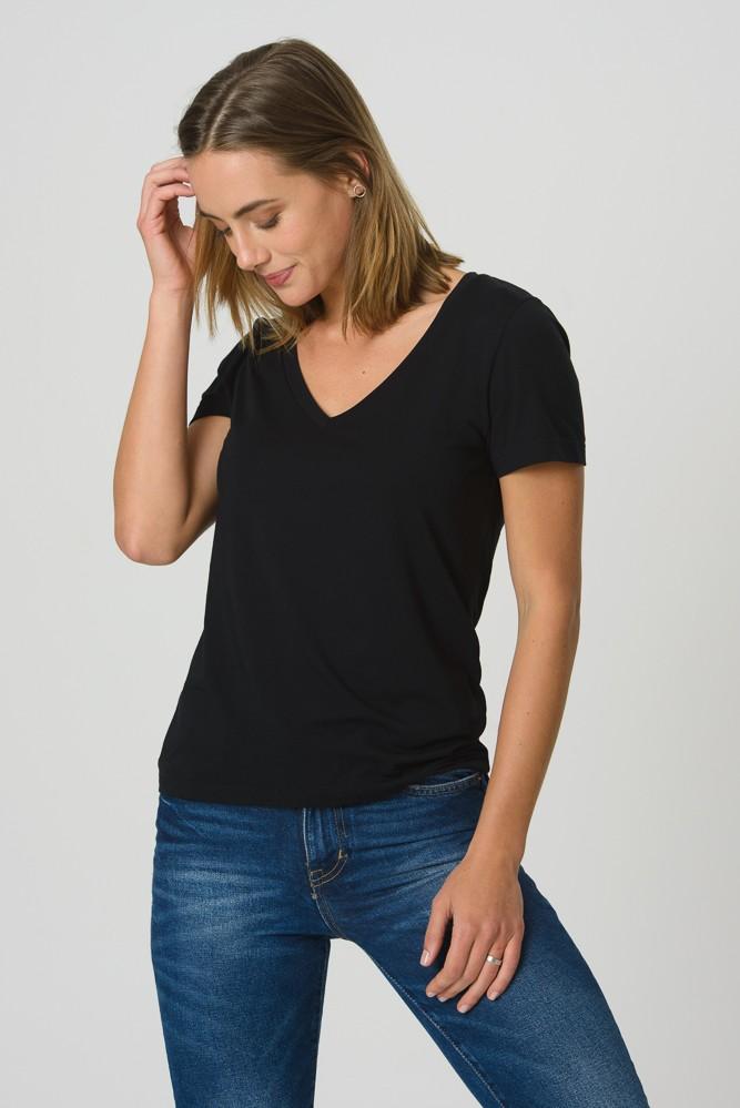 T-Shirt Gola V Modal - Preta