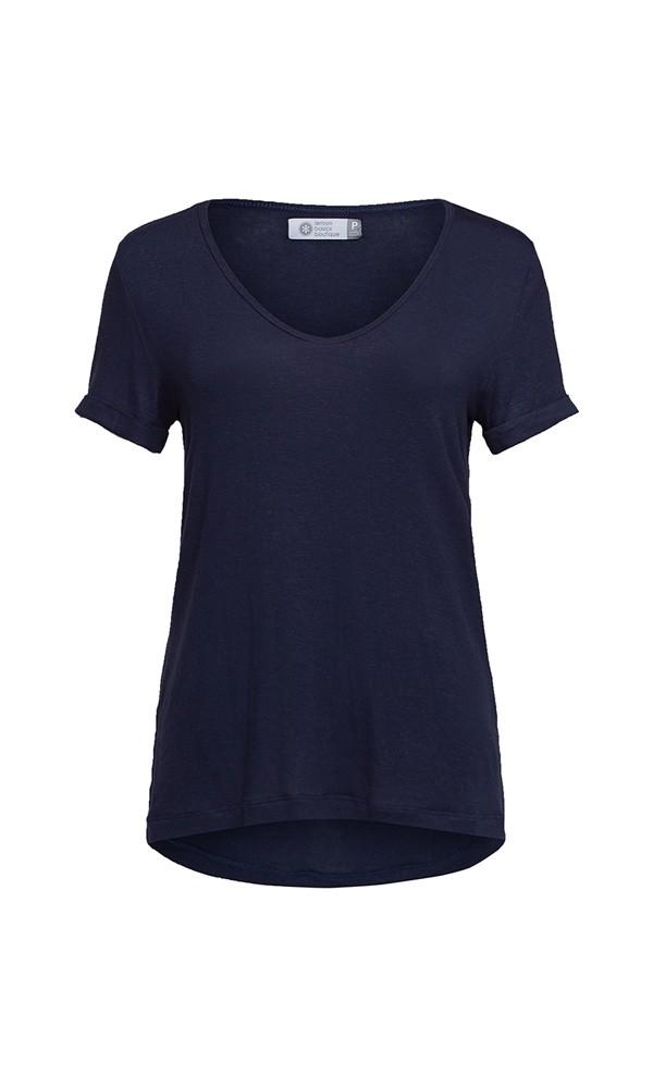 T-Shirt Linho - Marinho