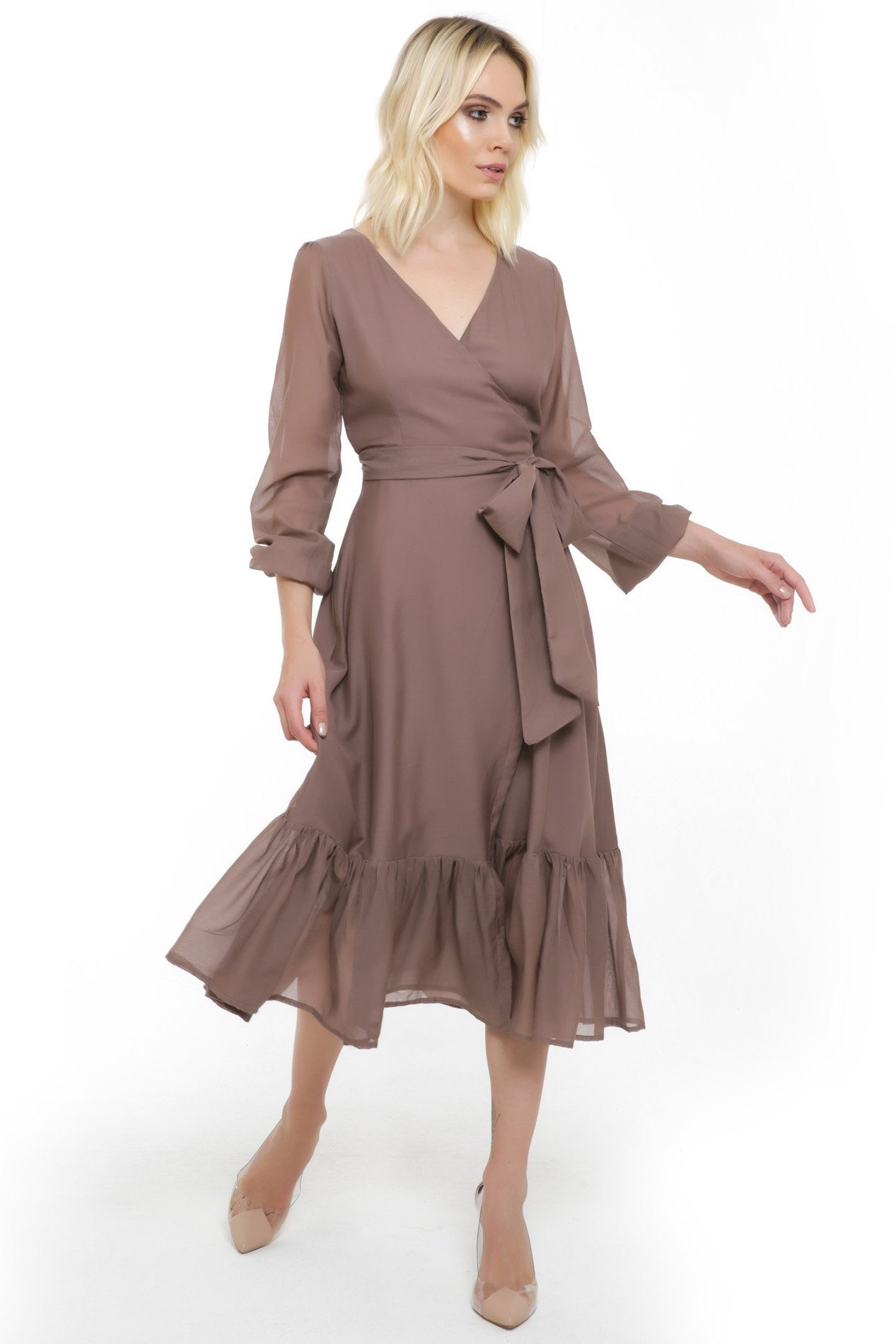 Vestido Monica Cache-Coeur Silk Cotton
