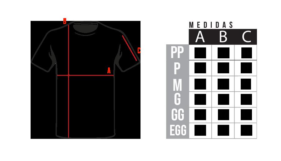 Medidas Camisetas Flecha Discos