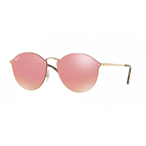 Óculos de Sol Ray Ban Blaze Round RB3574N 001 E4 Safira d71eac3ae3