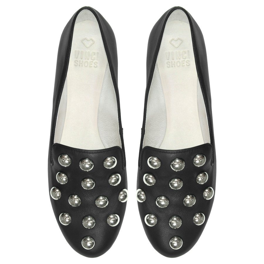 Slipper Studded Black