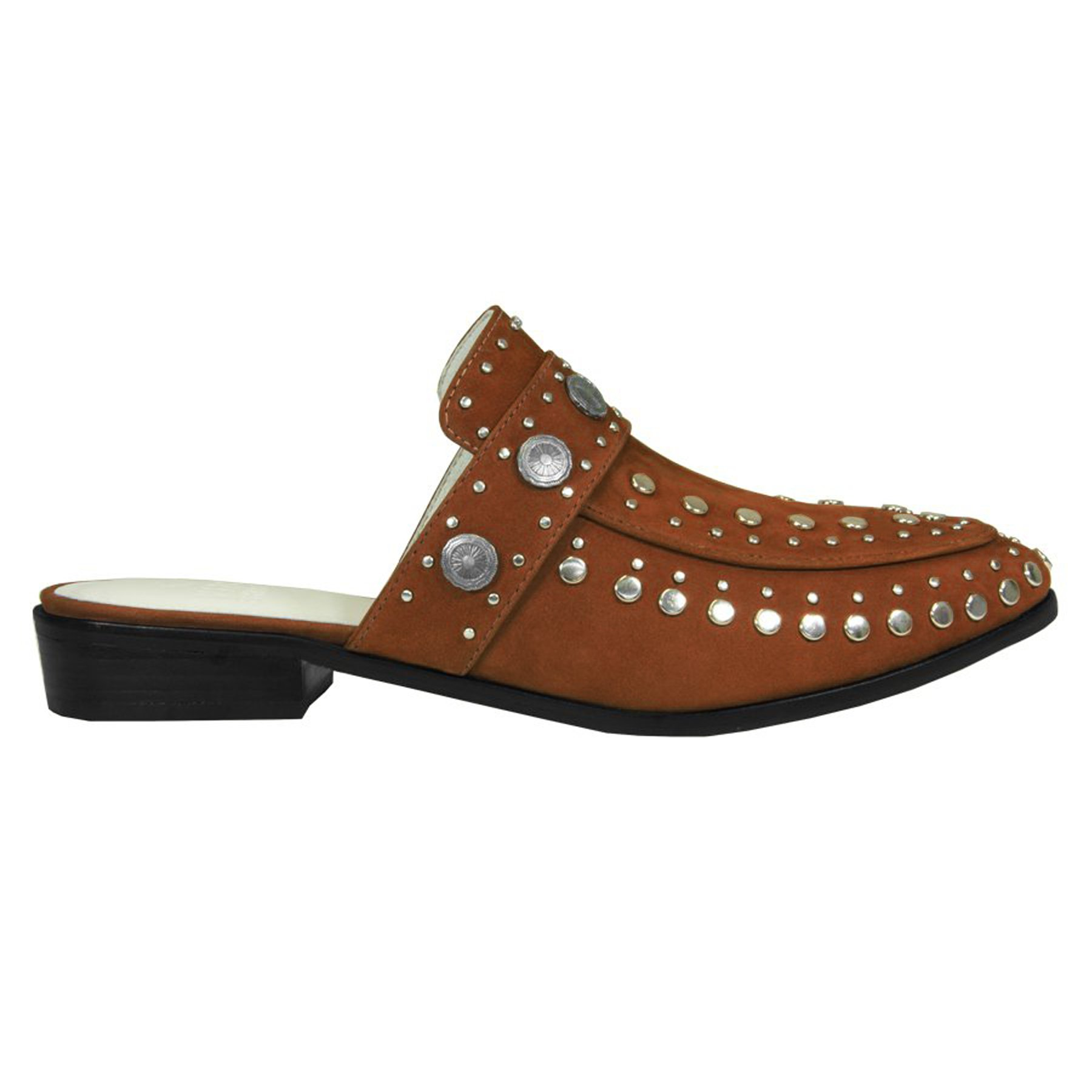Mule Beta Studded Canela